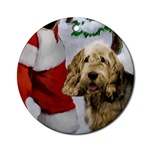 Otterhound Christmas ornaments in round or oval shaped