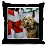 Otterhound Christmas gifts art throw pillow