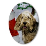 Otterhound Christmas art ornaments for your tree, or use as an elegant gifts topper