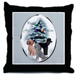 Lovely poodle Christmas art throw pillow, gifts that will be cherish for years to come.