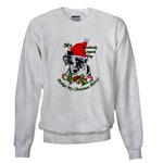 catahoula leopard dog christmas holiday sweatshirt apparel