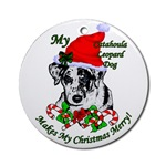 catahoula leopard dog christmas holiday ornaments