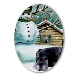 neapolitan mastiff christmas oval ornaments