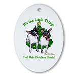 toy fox terrier christmas ornaments, oval ornament