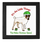 parson russell terrier christmas gift ideas, keepsake box