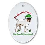 parson russell terrier christmas ornaments, oval ornament