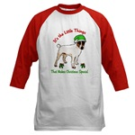 parson russell terrier christmas apparel, holiday clothing, baseball jersey