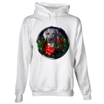 Weimaraner Christmas art looks great on lots of holiday wear for the whole weim loving family.