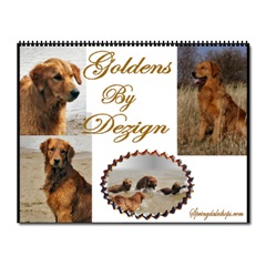 golden retriever art 2008 calendars
