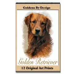 dog breed artwork golden retriever
