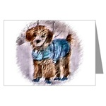 Poodle art Christmas cards, in individual card or multi packs, also avialable in holiday note cards