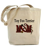 Toy Fox Terrier Mom tote bag