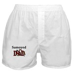 samoyed dog dad boxer shorts