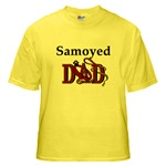 samoyed dad yellow t-shirt
