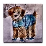 poodle art tile coaster, great christmas presents for the poodle fans