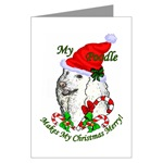 Poodle lovers Christmas cards