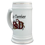 silky terrier dog dad stein