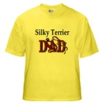 silky terrier dog dad t-shirts