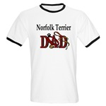 Norfolk Terrier Dad shirts and gift merchandise