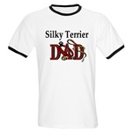 silky terrier dog dad ringer t