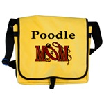 Poodle Mom accessories, messenger bag, tote bag, caps, and more