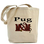 pug  mom tote bag, messenger bag, and othe accessories