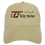 i love my silky terrier cap