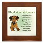Rhodesian Ridgeback gifts, framed tile, posters, cards, prints, and more gift ideas for any occasion