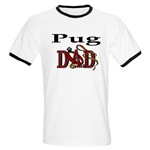 Pug Dad shirts and gift merchandise