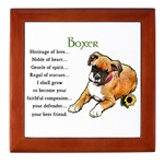 Boxer gifts include our framed tiles, keepsake box, mugs, stein, magnets and so much more