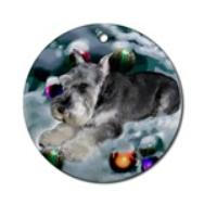 This miniature schnauzer Christmas ornament will be a favorite on your tree, or use as a gifts topper.