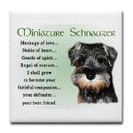 Minaiture Schnauzer Heritage Of Love puppy gifts