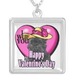 Affenpinscher Valentines Day Gifts Jewelry Necklace