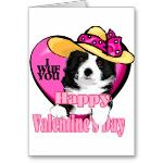 Border Collie Valentines Day Card